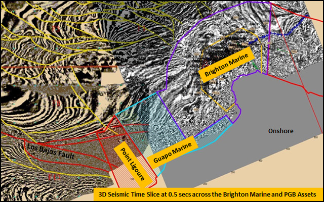 Brighton and PGB 3D Seismic Time Slice